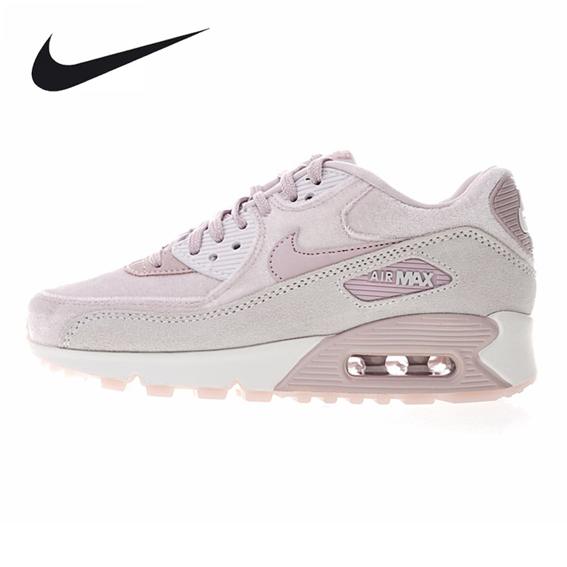 Nike Air Max 90 Women's Running Shoes, Outdoor Sneakers Shoes, Grey, Non-slip Breathable Shock Absorbing 898512 600 очки nike optics ignition dark magnet grey white max outdoor lens