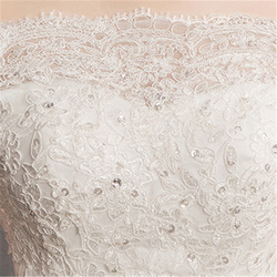 It's YiiYa Wedding Dresses 2019 Beading Sequins Boat Neck Simple Floor-length Elegant Bridal Gowns De Novia Casamento AL010 4