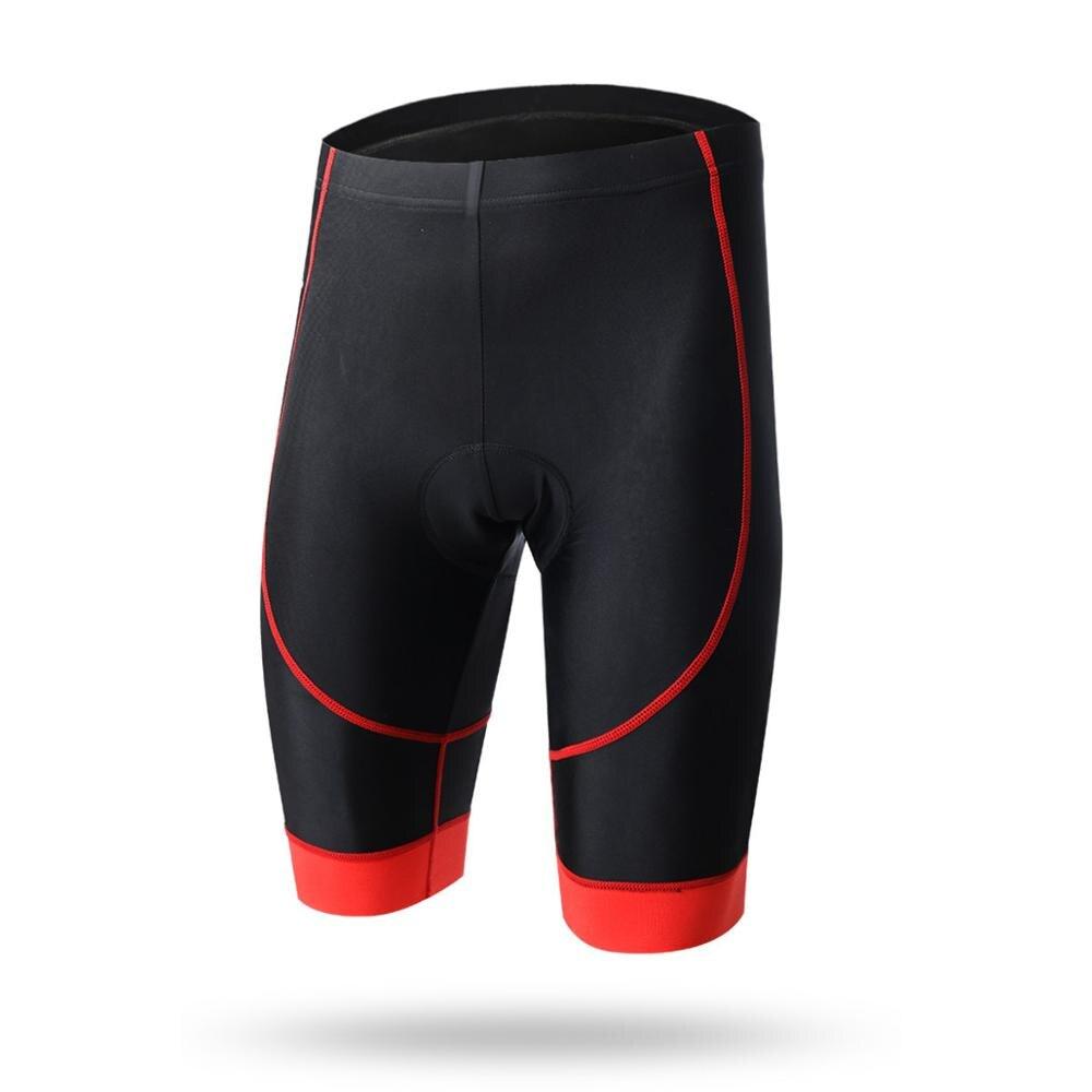 Летние велосипедные плотные короткие ударопрочные велосипедные шорты с четырьмя иглами, дышащие и быстросохнущие велосипедные шорты, велосипедные костюмы - Цвет: red