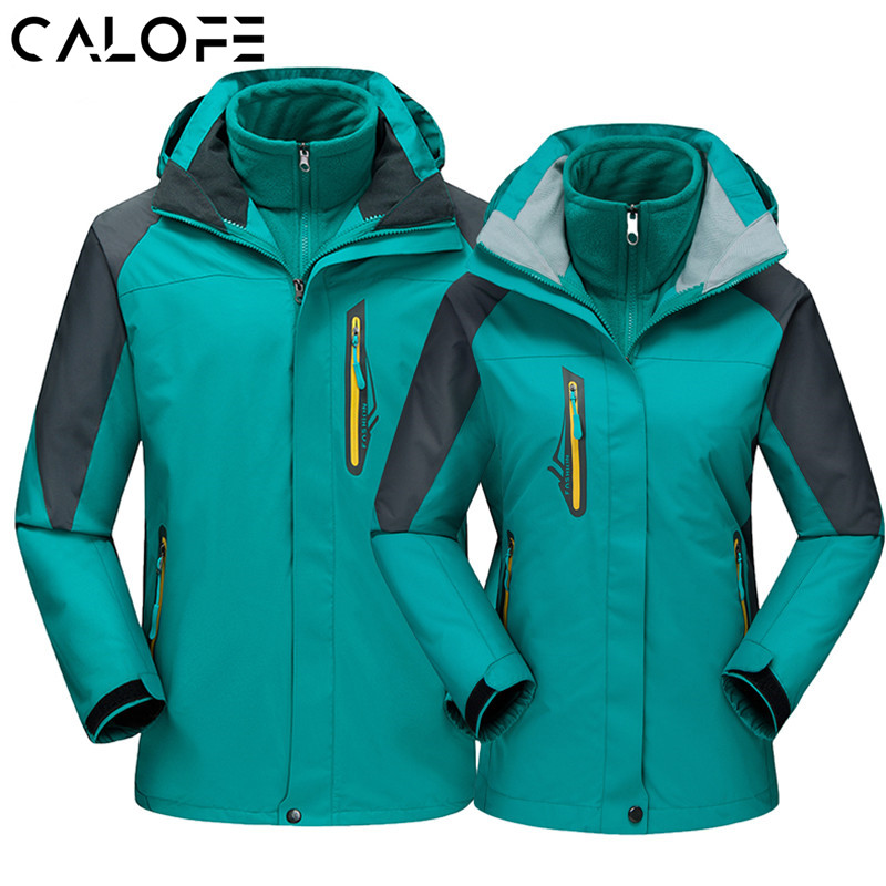 Outdoor Fleece Hiking Jacket Men Women Lovers Waterproof Climbing Sports Jackets Thermal Warm Plus Size Skiing Windbreaker Z30 men women winter waterproof mountain clothes climbing hiking overcoats thicken fleece lined warm outwear jacket coat for lovers