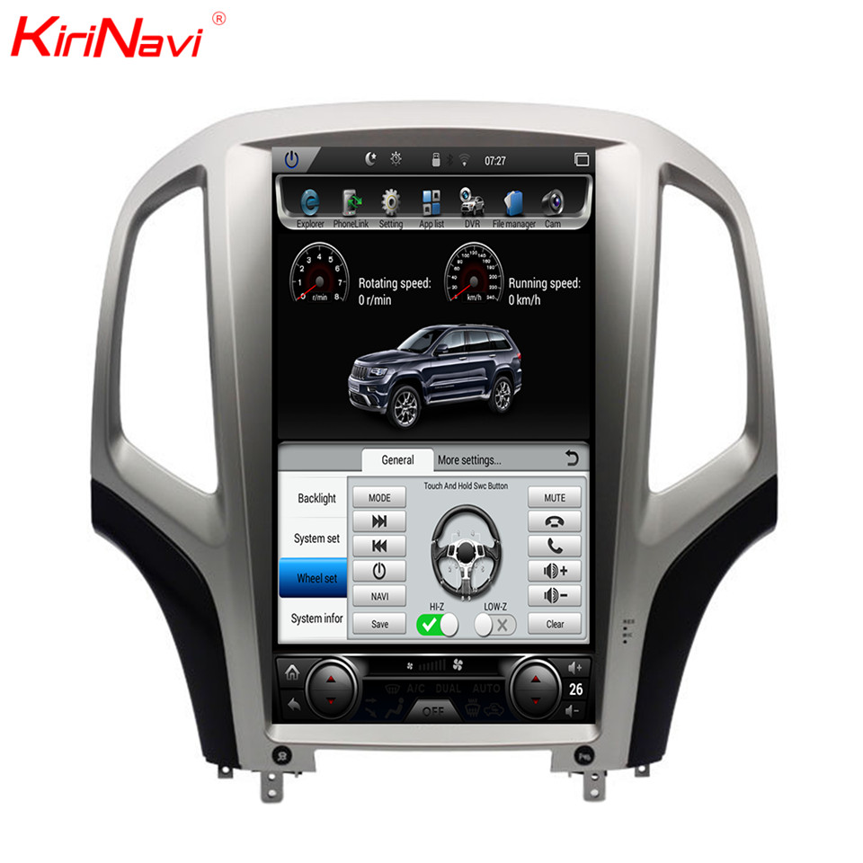 KiriNavi pantalla Vertical Tesla estilo Android 7.0.1 14,1 pulgadas Radio de coche para Opel Astra J coche DVD Gps navegación Wifi 4G 2010-2014