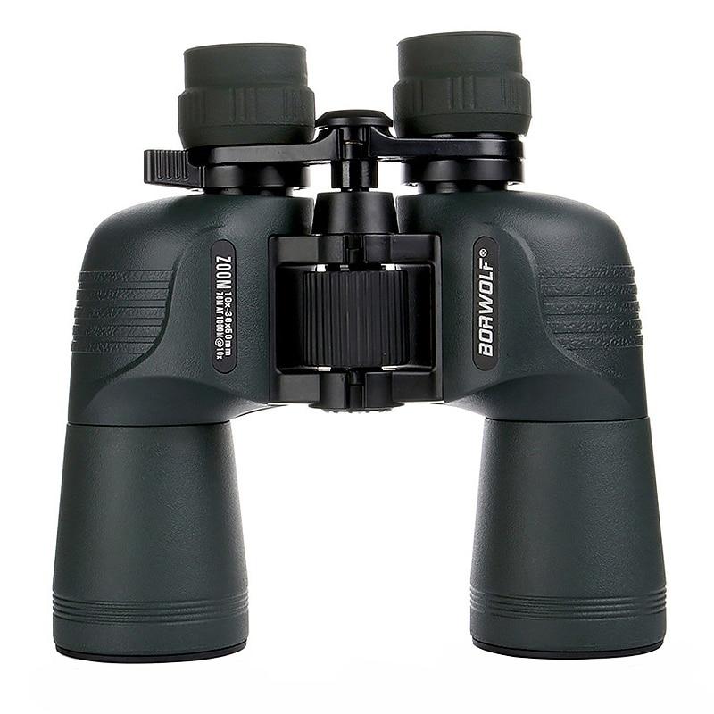 Compact Zoom Binocular Telescope 10-30X50 HD Waterproof Lll Night Vision Zooming Binoculars Outdoor Camping Hunting TelescopeCompact Zoom Binocular Telescope 10-30X50 HD Waterproof Lll Night Vision Zooming Binoculars Outdoor Camping Hunting Telescope