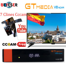 Gtmedia V8 Nova Built wifi DVB-S2 Freesat V8 Super Satellite TV Receiver gt media v8 nova receptor with 1 year europe cccam цена и фото