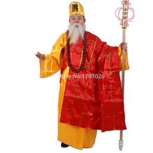 New Arrival Chinese ancient classic story stage costumes XI YOUJI west jorney costume TANG MONK role