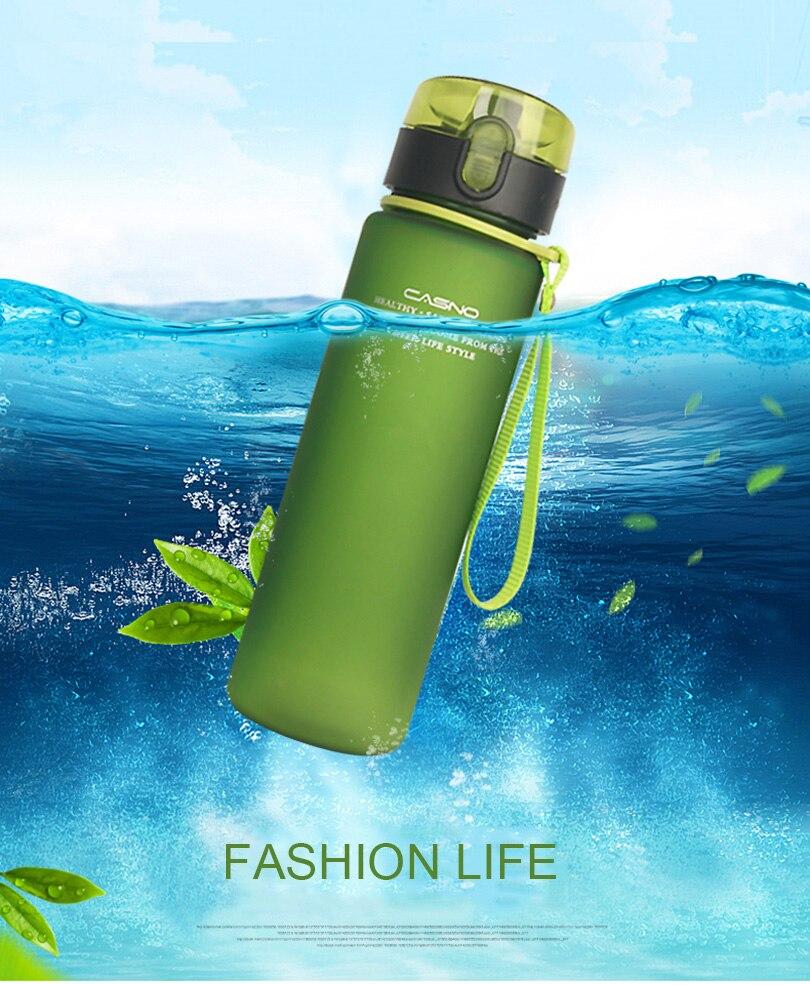 560ML Eco Friendly Tritan BPA Free sports Water font b Bottles b font Scrub coffee tea