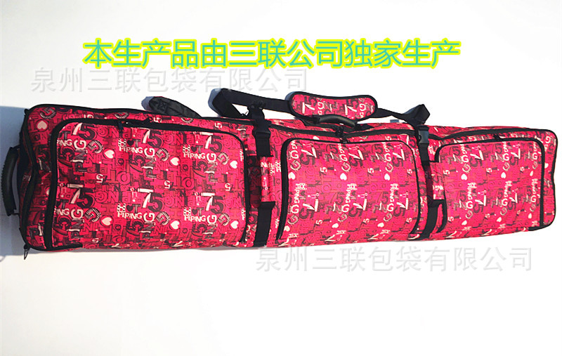 165cm large capacity without wheels Snowboard Bag Double Board Skis Bag Backpack Ski Bag Special red A4801 цена