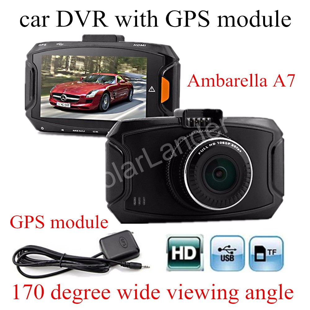 GS90A Ambarella A7 Car DVR Camera HD 2.7 Inch Dash Cam 170 Degree wide viewing angle Camcorder with GPS module gs 6301 hd купить во владимире