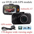 GS90A Ambarella A7 Car DVR Camera HD 2.7 Inch Dash Cam 170 Degree wide viewing angle Camcorder with GPS module