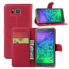 Wallet Flip Leather Case For Samsung Galaxy Alpha Alfa G850 G850F G850A 6-inch phone Leather back Cover case with Stand Etui>