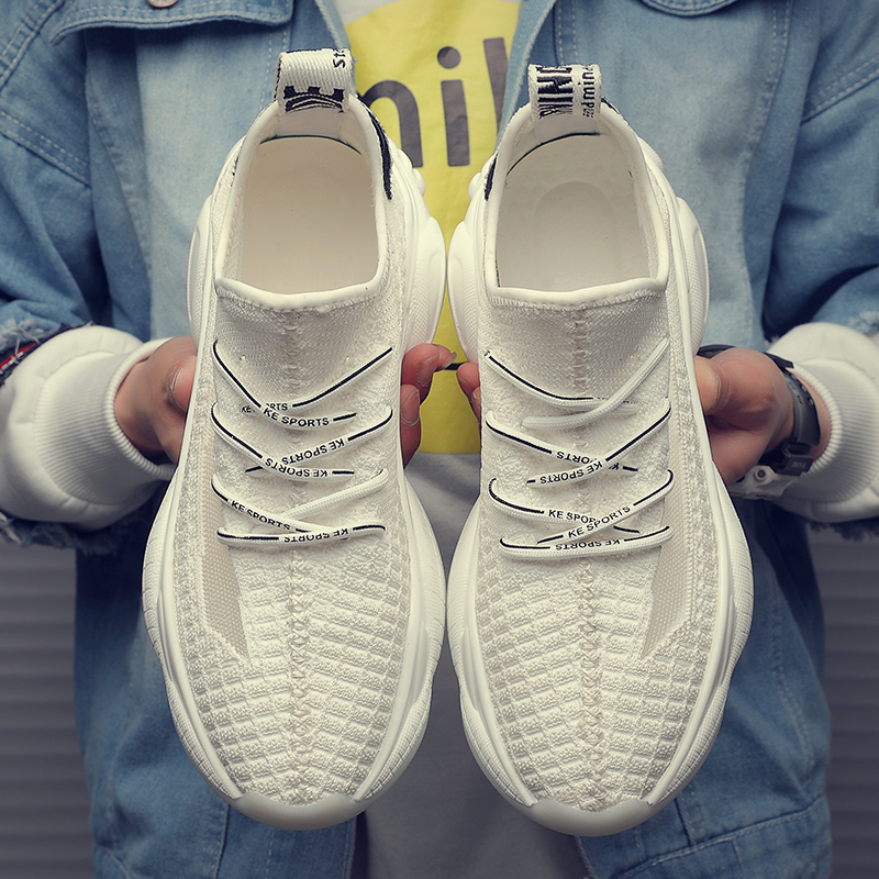 Men s shoes spring 2019 Korean edition coconut sneaker casual fashion breathable joker fly weave running