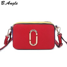 High quality special color matching messenger bag women bag cross body bag school bag with two kinds of belt