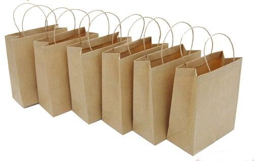 free shipping wholesale 200pcs lot 10 5 12cm fashion mini kraft paper bag with handle for. Black Bedroom Furniture Sets. Home Design Ideas