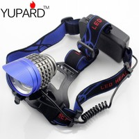 YUPARD 3* XM L T6 LED bright Headlamp Brightness LED Headlight bicycle cycling light 3500Lms rechargeable 18650 battery camping