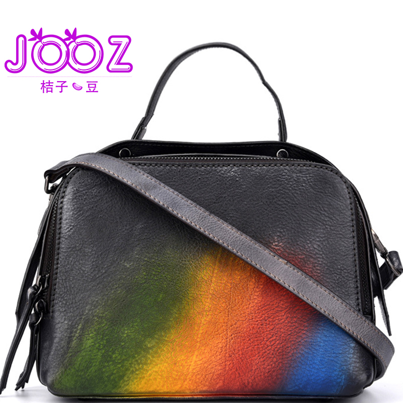 Jooz 2018 New 100% Cowhide Genuine Leather Crossbody Bag For Ladies Shoulder Bags Business Women Luxury Handbags Messenger Bag 2017 new female genuine leather handbags first layer of cowhide fashion simple women shoulder messenger bags bucket bags