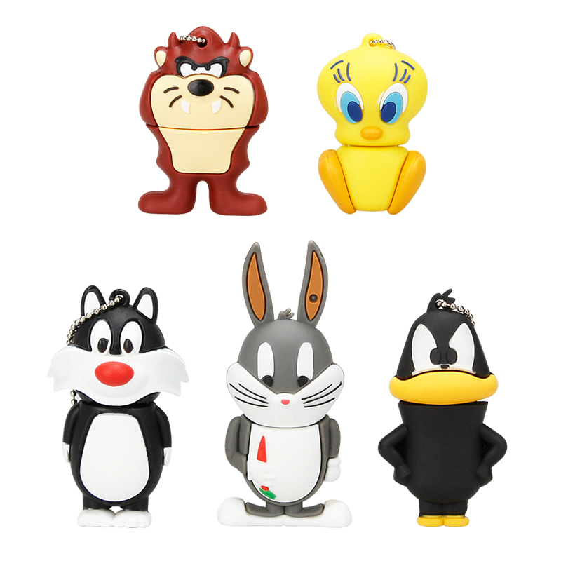 Pen-Drive Usb-Stick Flash-Usb 128gb Usb Cartoon Cute Lovely USB2.0 16GB 64GB 32GB Duck
