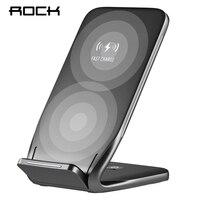 ROCK Qi Bezprzewodowa Ładowarka Do iPhone X 8 10 Samsung Uwaga 8 S6 S7 S8 Oraz Szybkiego Ładowania Bezprzewodowego Telefonu 10 W Stacja Dokująca Dock