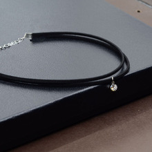 Best Rhinestone Black Crystal Choker Necklace Cheap