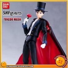 "Anime ""Pretty Guardian Sailor Moon"" Originele Bandai Tamashii Naties Shf S.H.Figuarts Action Figure   Tuxedo Mask"