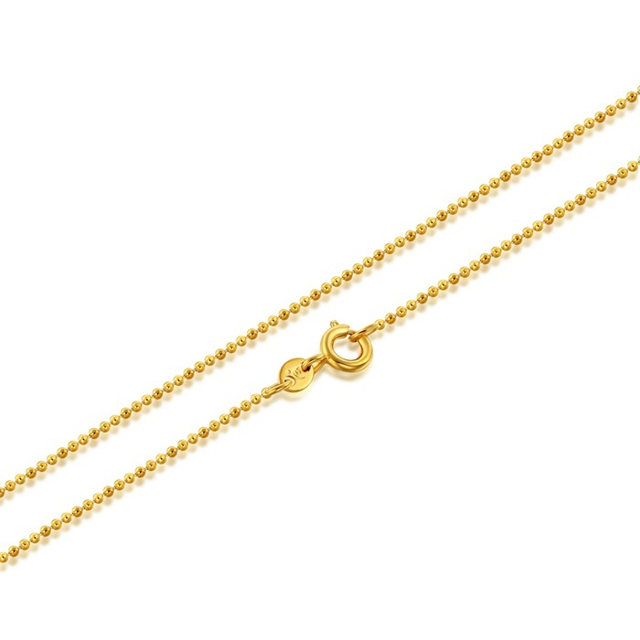 Wholesale Kids Children 18K Yellow Gold Plated Beads Link Chain 13 ...