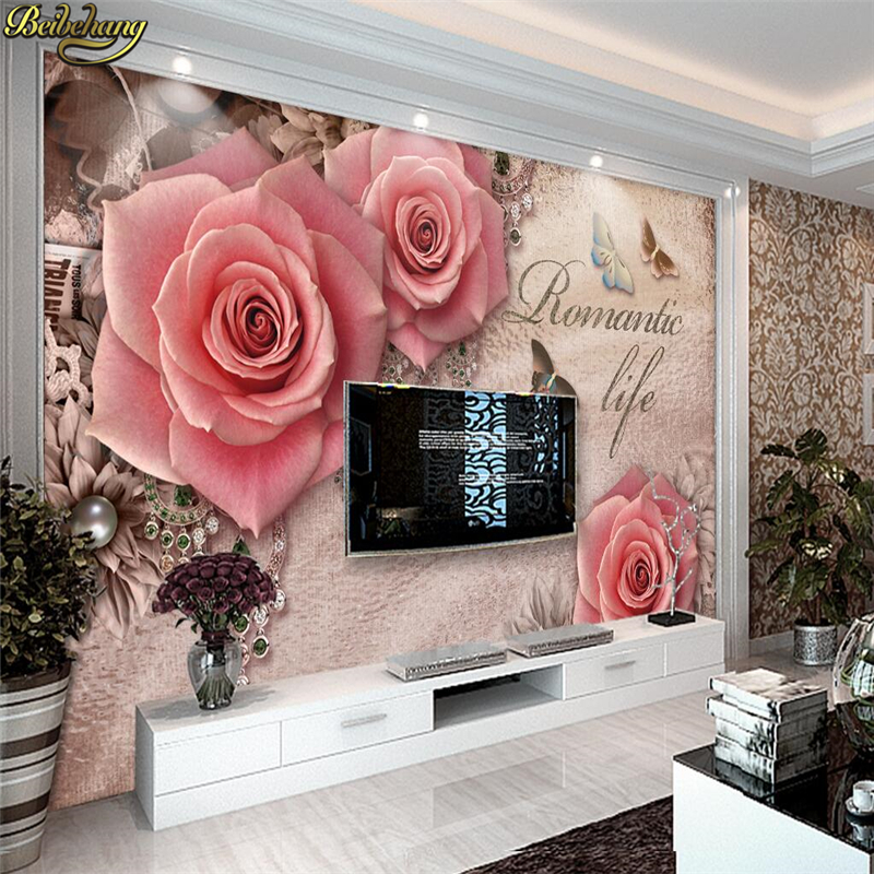 beibehang papel de parede 3d Wallpaper for Walls 3 d TV Background wall papers home decor photo Mural wallpaper for Living Room large mural papel de parede european nostalgia abstract flower and bird wallpaper living room sofa tv wall bedroom 3d wallpaper