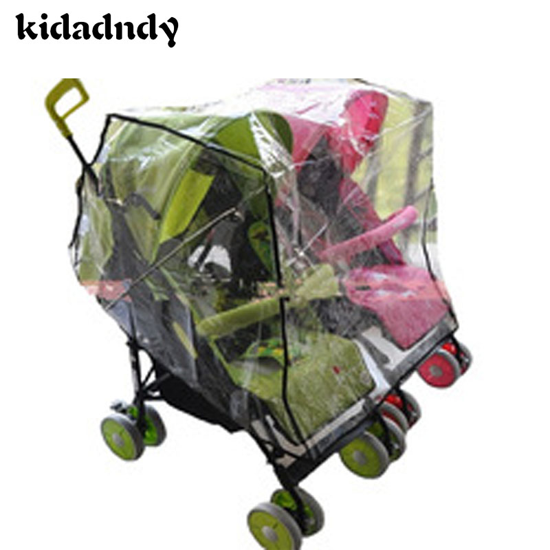 kidadndy Twin Baby Flat Row Seat Cover General Waterproof Rain Cover Dust Cart Wind Shield Parts