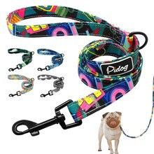 4 фута модный собачий поводок с рисунком, нейлоновый поводок для домашних животных, веревка для маленьких и средних собак, мягкие поводки для прогулок для домашних животных, чихуахуа, питбуля