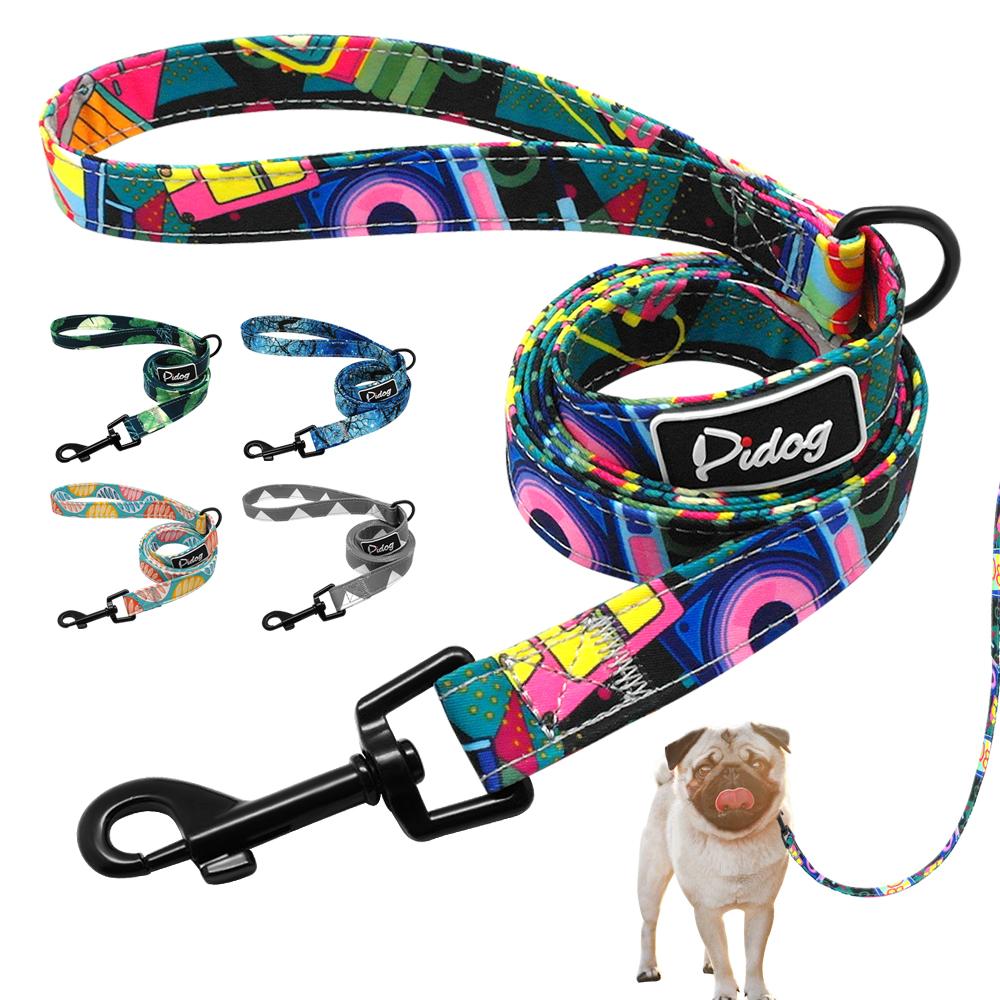 4ft Fashion Pattern Dog Leash Printed Nylon Pet Leash Rope For Small Medium Dogs Soft Pet Walking Leashes Chihuahua Pitbull