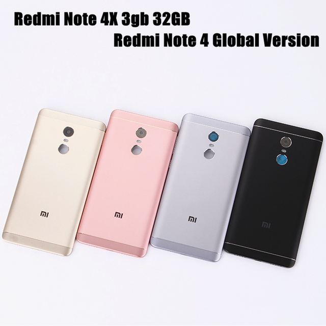 Redmi Note 4 Global Version Original Metal Cover for Xiaomi Redmi Note 4X 3gb 32GB Back Battery Cover Housing Replacement Parts