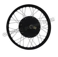 QS Motor Bicycle Spoke motor 3000W 205 (50H) V3 Type Hub Motor with moped wheel rim
