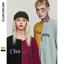 FlAM ONLINE 2019 Mens Short Sleeve Summer Brand Clothes Male  T-shirt Rock Street wear Cotton Top Tee