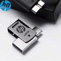 128GB HP X5000M 메탈 OTG USB 플래시 드라이브 USB 3.1 Type-c 3.1 삼성 화웨이 샤오미 otg 스마트 폰용 170 메가바이트/초 pendrive