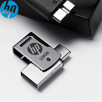 128GB HP X5000M metal OTG USB Flash drive USB 3.1 Type-c 3.1 High 170MB/S  Pendrive for Samsung, Huawei, Xiaomi OTG Smartphone