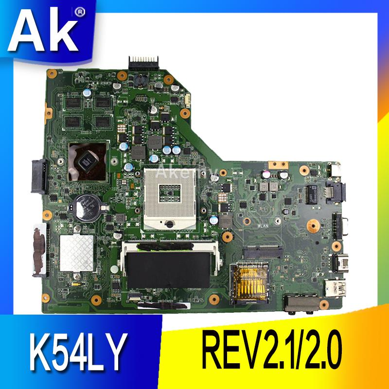 AK K54LY Laptop Motherboard For ASUS K54L K54LY X54H X54H K54HR X84H Test Original Mai'nboard REV2.1/2.0 PM