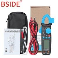 Mini Digital Clamp Meter BSIDE RMS 6000 Counts DC/AC Current 100A 1mA Accuracy Car Repair Ammeter Voltmeter NCV Tester Multimete