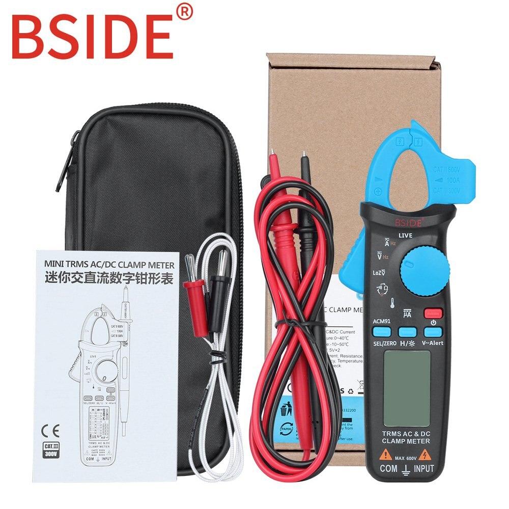 Mini pince numérique compteur vrai RMS DC/AC courant 100A 1mA résolution testeur multimètre voiture réparation ampèremètre voltmètre