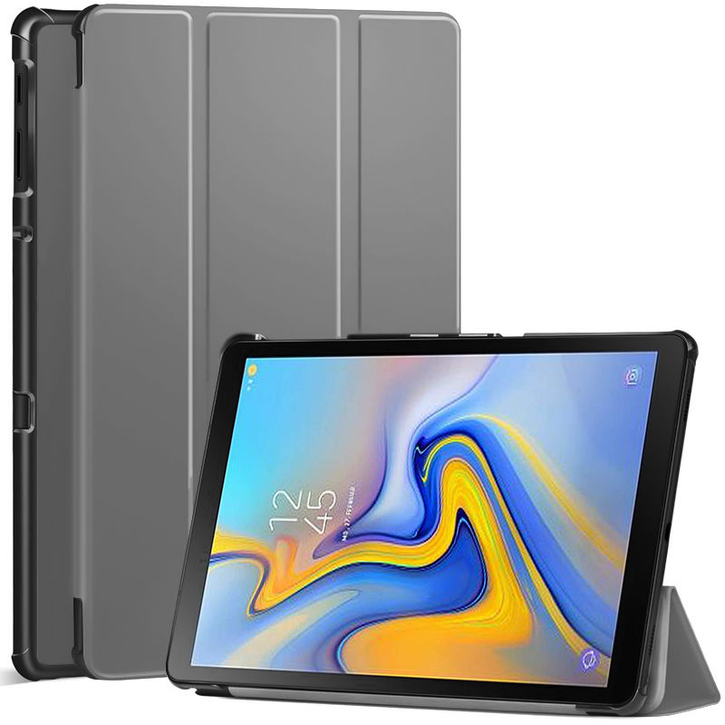 QIUBOSS Smart Flip Case For Samsung Galaxy Tab A 10.5 2019 SM-T590 T595 T597 PU Leather Hard Cover For Samsung Tab A 10.5 Case