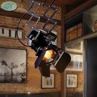 Индустриальный Лофт пятно светодио дный потолочный светильник Ретро spotlight E27 трек свет Коммерческая винтажные светильник luminaria бар лампы
