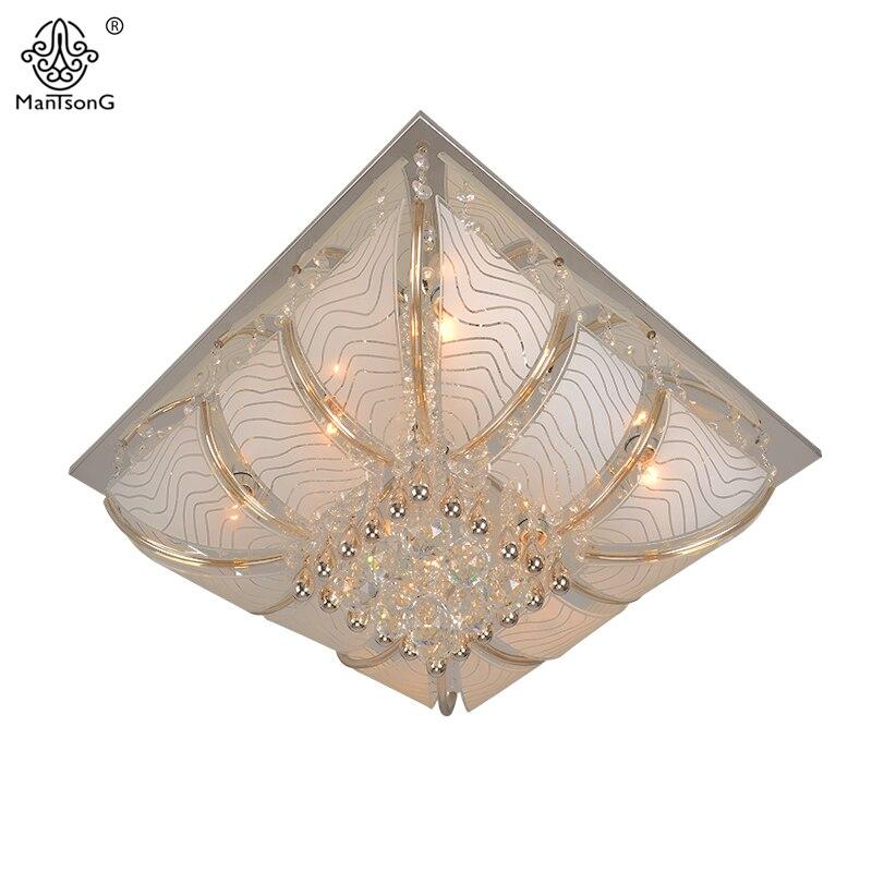 2017 New <font><b>Square</b></font> LED Lamp Beads Crystal Ceiling Light for Living Room Indoor Ceinling Lamp Home Decor Modern Glass Ceiling Light