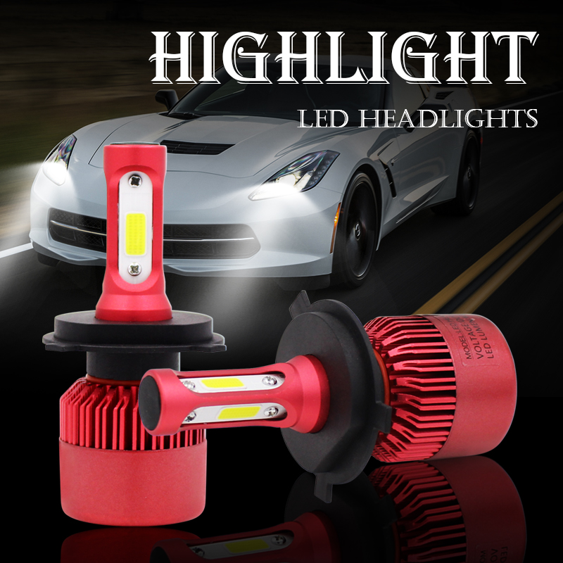 S5 H4 LED Car Headlamps 6500K 8000LM Driving Headlight Chopper Weighing Light Bulb Umbrella 12v 24v H4 H7 H11 H3 9004 9007 9005 12v led light auto headlamp h1 h3 h7 9005 9004 9007 h4 h15 car led headlight bulb 30w high single dual beam white light