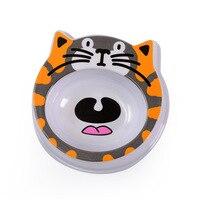 Free Shipping Melamine Medium Pet Dog Cat Bowls Cartoon Anti Choking Slow Food Feeder Supplies Puppy