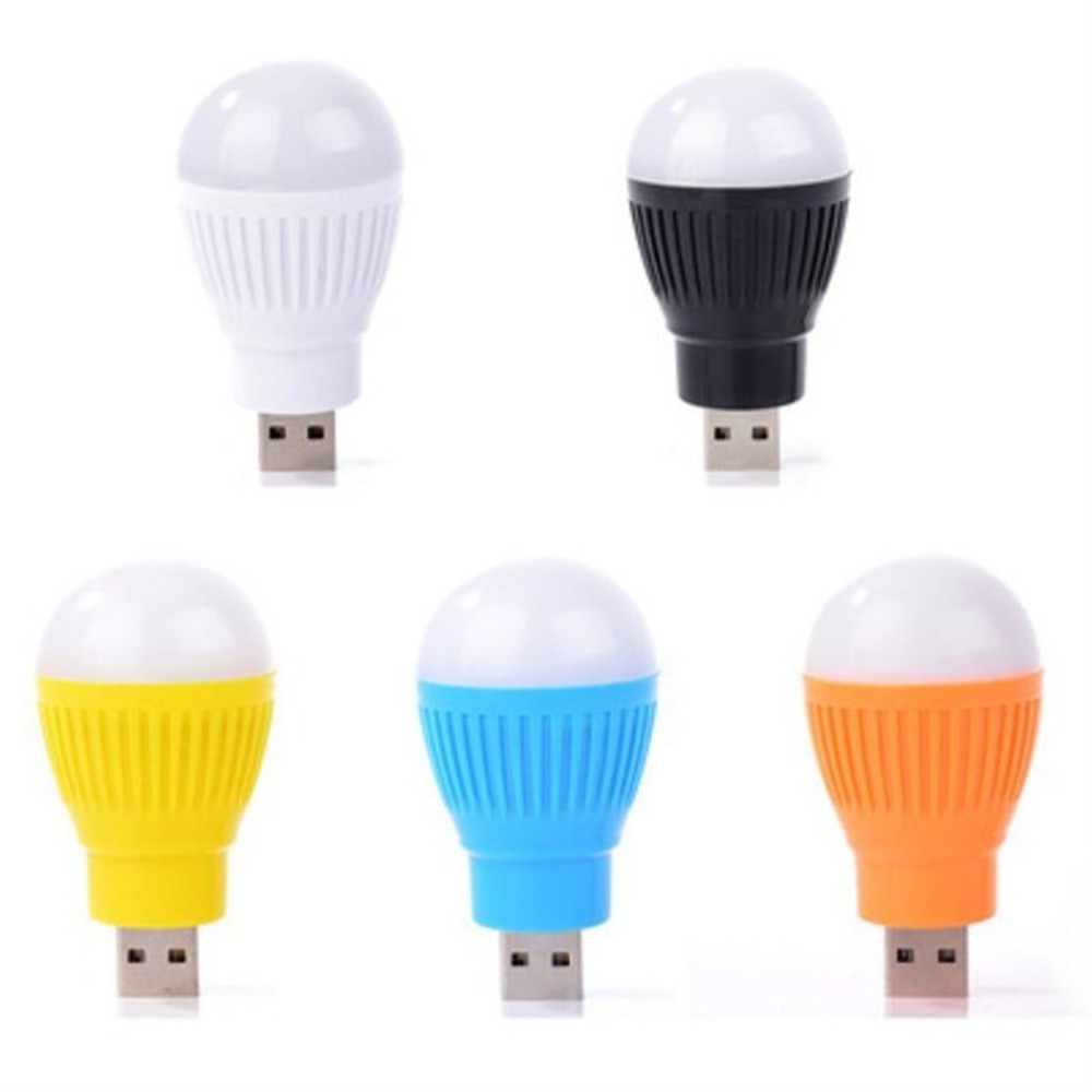 5V 5W USB Bulb Light Portable Lamp LED 5730 For Hiking Camping Tent Travel Work With Power Bank Notebook Color Random