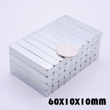 цена Magnet 1pcs/lot N52 60x10x10 mm hot search magnet Strong magnets Rare Earth Neodymium Magnet for crafts wholesale 60*10*10 mm онлайн в 2017 году
