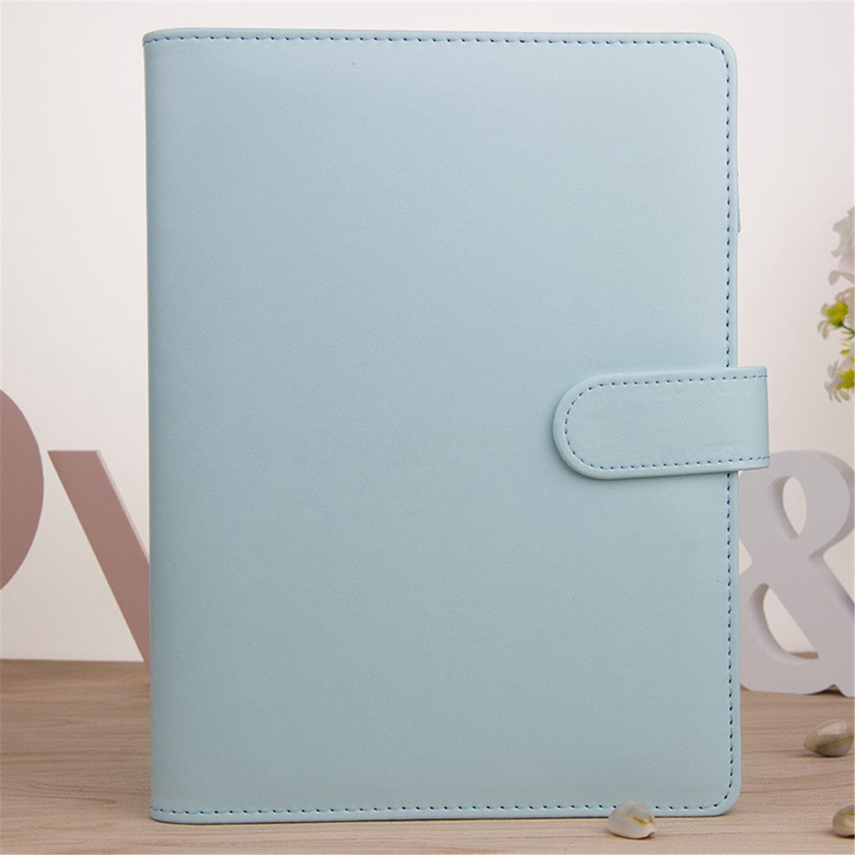 New A5 Weekly Monthly Planner Diary Classic Loose-Leaf-Ring-Binder Notebook Cover, Blue a5 planner agenda pu loose leaf weekly monthly journal diary notebook blue