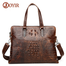 Joyir 2017 men briefcase genuine leather bags handbags casual business laptop tote men's crossbody shoulder bag men's bags 1230H