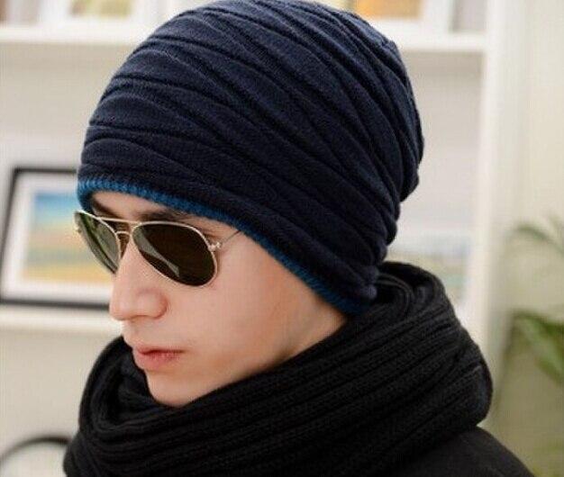New 2016 Knitted Men Winter Hat Autumn Ss