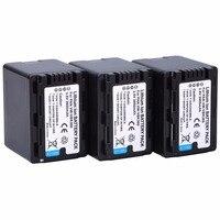 Probty 3pcs Battery VW VBK360 VW VBK360 Camera Battery For Panasonic HC V10 V100 V100M V500 V500M V700 V700M HDC HS60 HS80 SD40