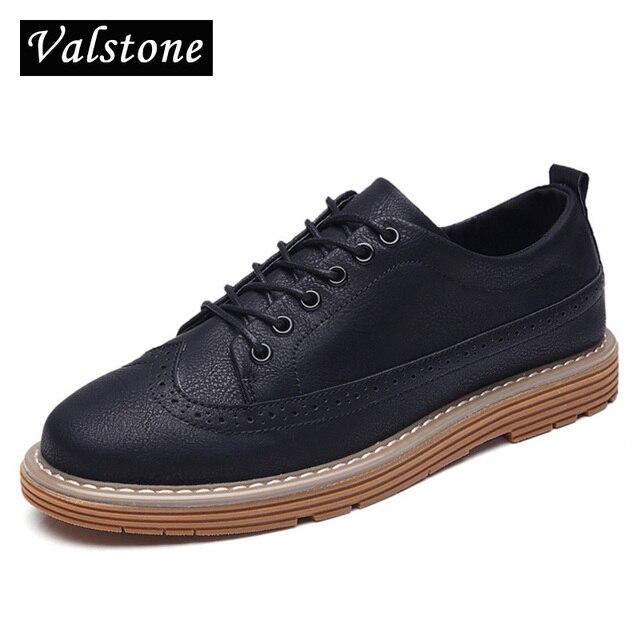 Valstone 2017 новое Прибытие Super Hot Броги мужские модные кроссовки мужские кожаные pantshoes Туфли-оксфорды на шнуровке для осени и зимние