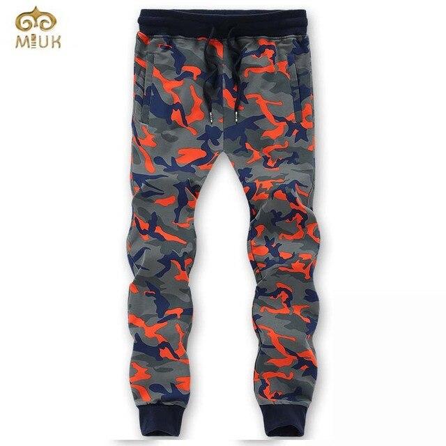 MIUK 2017 11.111 New Large Size Cotton Men Pants L~8XL Brand Clothing Orange Green Straight Pants Pantalones Hombre Sweatpants