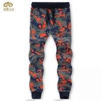 Miuk 2017 11.111 nuovo marchio di abbigliamento di grandi dimensioni degli uomini pantaloni di cotone l ~ 8xl orange verde dritto pantaloni pantalones hombre pantaloni della tuta