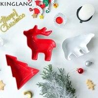 Для Рождество! Керамика чаша мультфильм творческий Посуда Чаша животных Снэк салат Конфетница procelain красочные олень пластины